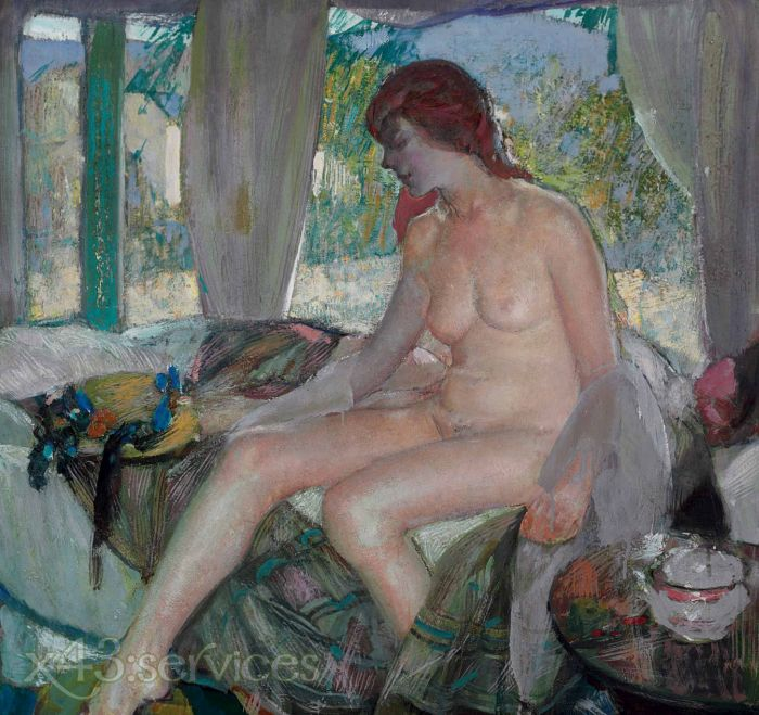 Richard Edward Miller - Akt im Innenraum - Nude in Interior
