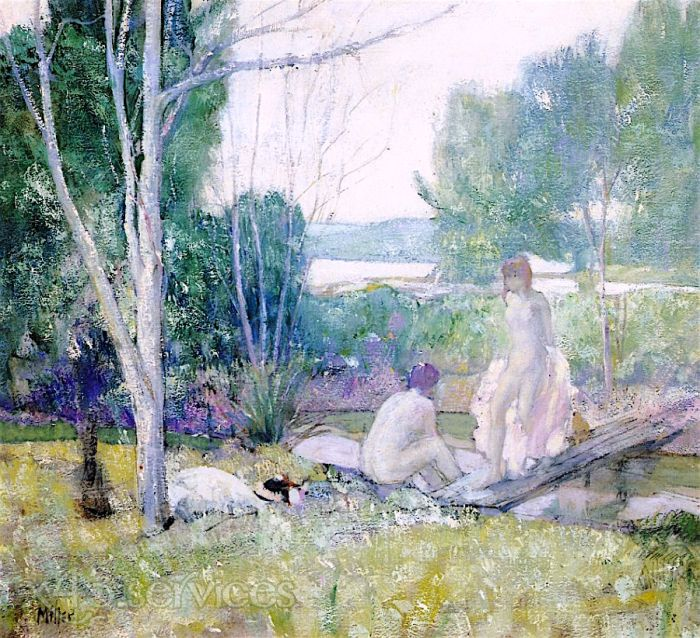 Richard Edward Miller - Badende - Bathers Giverny