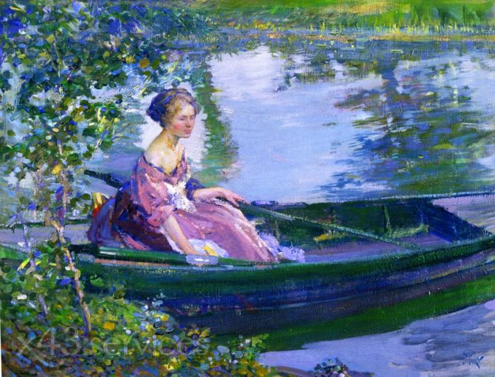 Richard Edward Miller - Bootfahren Giverny - Boating Giverny