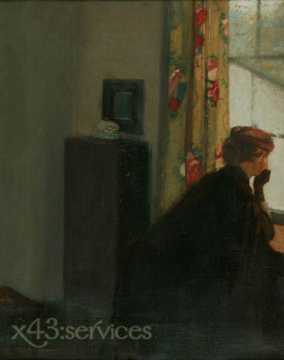 William Rothenstein - Am Fenster - At the Window