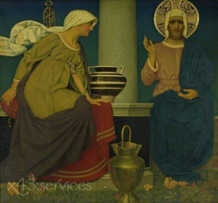 Joseph Edward Southall - Am Brunnen von Samaria - At the Well of Samaria