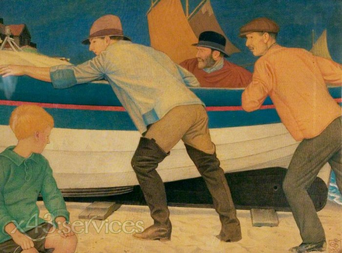 Joseph Edward Southall - Aus dem Meer - Up from the Sea
