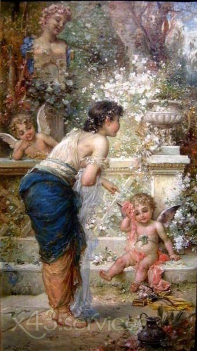 Hans Zatzka - Bestrafter Amor - Punished Cupid
